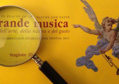 """La Grande Musica nei luoghi dell'arte, della natura e del gusto, Festival del Concorso internazionale di musica da camera """"Salieri-Zinetti""""."""